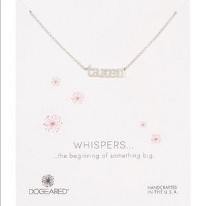 "Dogeared Necklace sterling silver ""Taken"""
